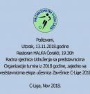 Zakazana Radna sjednica Udruženja C-liga Cazin